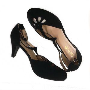 T-Strap Black Heel Size 11